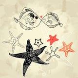 Amanti dei pesci Fotografia Stock Libera da Diritti