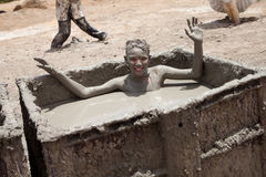 Amanti del fango del mar Morto Fotografia Stock Libera da Diritti