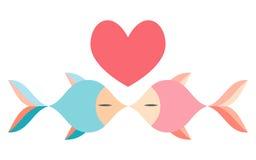 Amanti del pesce Immagini Stock Libere da Diritti
