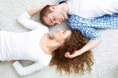 Amanti faccia a faccia Fotografie Stock Libere da Diritti