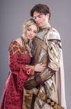 Amanti medievali Fotografia Stock Libera da Diritti
