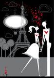 Amanti a Parigi. illustrazione vettoriale