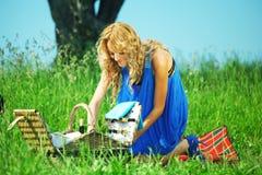 Amanti sul picnic Fotografie Stock