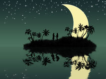 Amanti sull'isola Immagini Stock Libere da Diritti