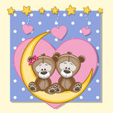 Amanti Teddy Bears Illustrazione di Stock
