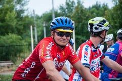 Amants de cyclistes de concurrence photo libre de droits