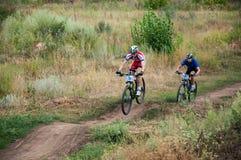 Amants de cyclistes de concurrence photos libres de droits