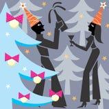Amants de Noël Images stock