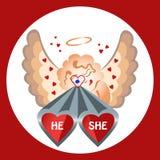 Amants de tir de Valentine plats Photo stock
