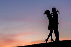 Amants sur une promenade Photo libre de droits