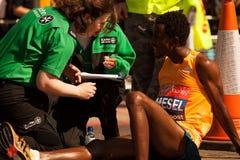 AMANUEL MESEL. London Marathon AMANUEL MESEL medical support Royalty Free Stock Photos