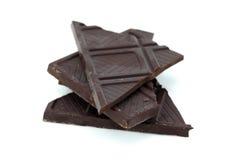 łamany cacao czekolady zmrok Obrazy Royalty Free