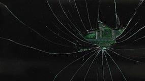 Łamany czarny monitor Fotografia Stock