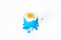 Łamany i otwarty Easter jajko z Obrazy Royalty Free