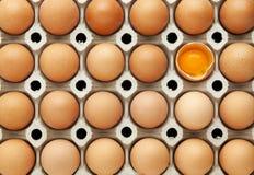 łamany jajko Fotografia Stock