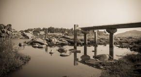 Łamany most Obraz Stock