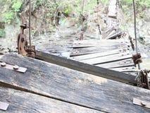 Łamany most w wschodniej Java wiosce Zdjęcie Stock