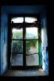łamany okno Fotografia Stock