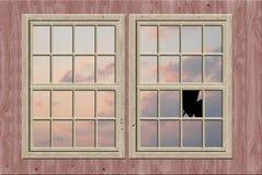 łamany okno Zdjęcia Stock