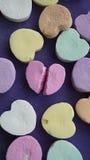 Łamany rozmowy serca cukierek Obraz Stock