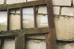Łamany stary okno Obraz Stock