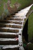 łamany stary schody Zdjęcia Royalty Free