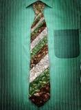 łamany szklany krawat Zdjęcia Stock