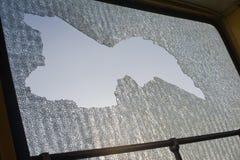 łamany szkło Fotografia Stock