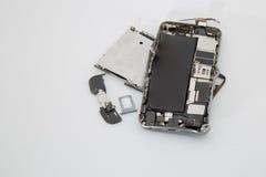 łamany telefon komórkowy fotografia stock