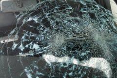 łamany windscreen Fotografia Stock
