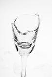 łamany wineglass Zdjęcie Royalty Free