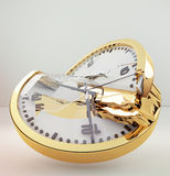 Łamany zegar Obrazy Royalty Free
