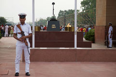 Amar Jawan Jyoti Flame of the immortal soldier royalty free stock photos