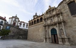 Amarante - Church of Sao Goncalo. Built in the sixteenth and seventeenth centuries is the renascentist, mannerist and baroque church of Sao Goncalo, in Amarante Royalty Free Stock Image