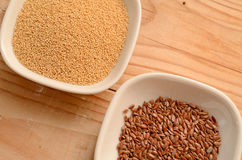 Amaranth and flaxseed Royalty Free Stock Images