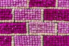 Amaranth flower handicraft, background flower wall. Texture. Globe Amaranth flower handicraft, background flower wall. Texture Royalty Free Stock Image