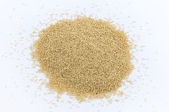 Amaranth grains on a white background stock image