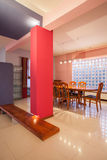 Amaranth house - colorful dining room Stock Photography