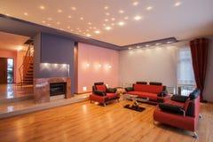 Amaranth house - Living room Stock Photos