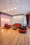 Amaranth house - Living room Royalty Free Stock Photography