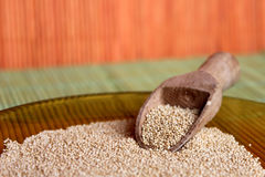 Amaranth and wooden spoon Royalty Free Stock Photo