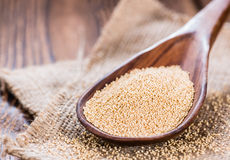 Amaranth on a wooden Spoon royalty free stock photography
