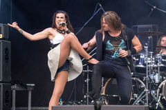 Amaranthe på Metalfest 2015 Arkivfoton
