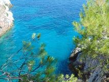 Amarantos cape on Skopelos island. Mamma mia movie location Royalty Free Stock Image