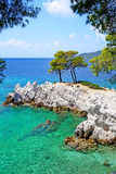Amarantos-Kap von Skopelos-Insel Stockbild