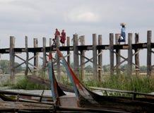 Amarapura моста Стоковое Изображение RF