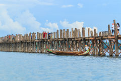 AMARAPURA, MYANMAR - Aug 26th, 2014: An unidentified man Stock Photography