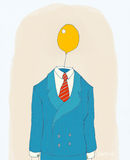 Amarele a cabeça de balão ilustração royalty free