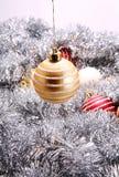 Amarele a decoração do Natal Fotografia de Stock