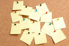 Amarele notas de post-it Foto de Stock Royalty Free